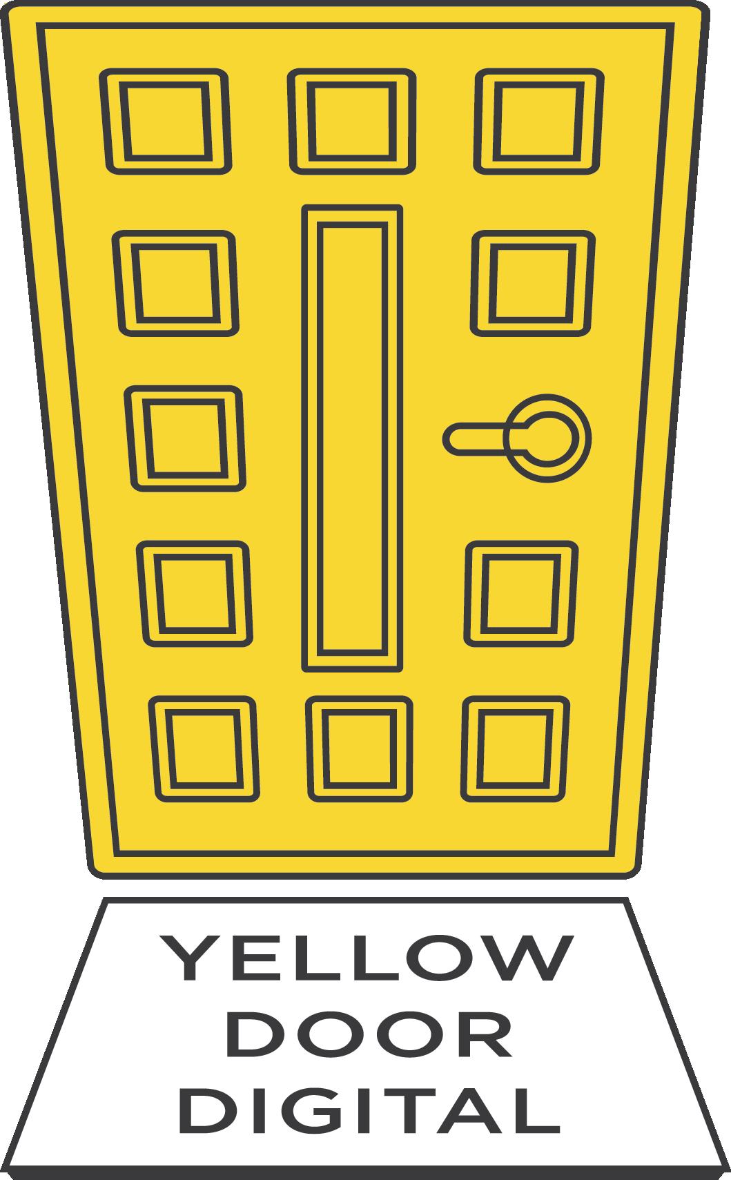 National bank digital . Door clipart yellow door