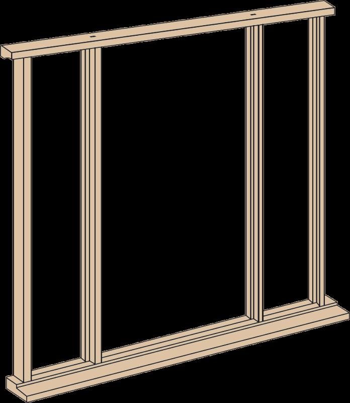 Oak vestibule kit . Door frame png