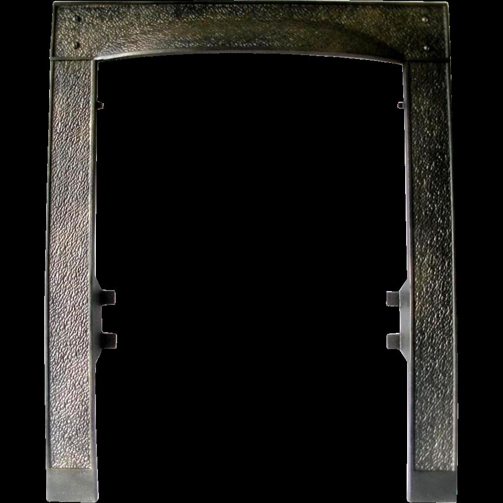 Arts craft cast iron. Door frame png