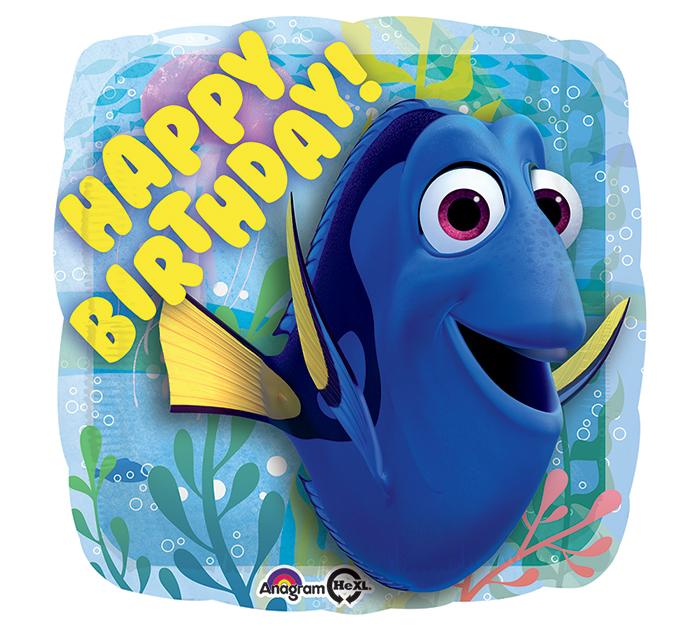 happy birthday foil. Dory clipart balloon