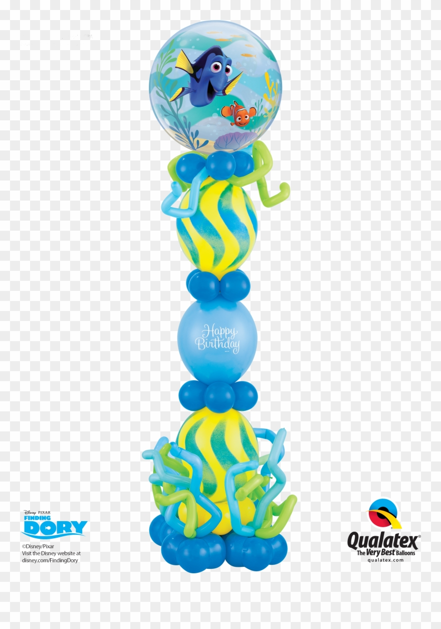 Finding birthday column decorations. Dory clipart balloon