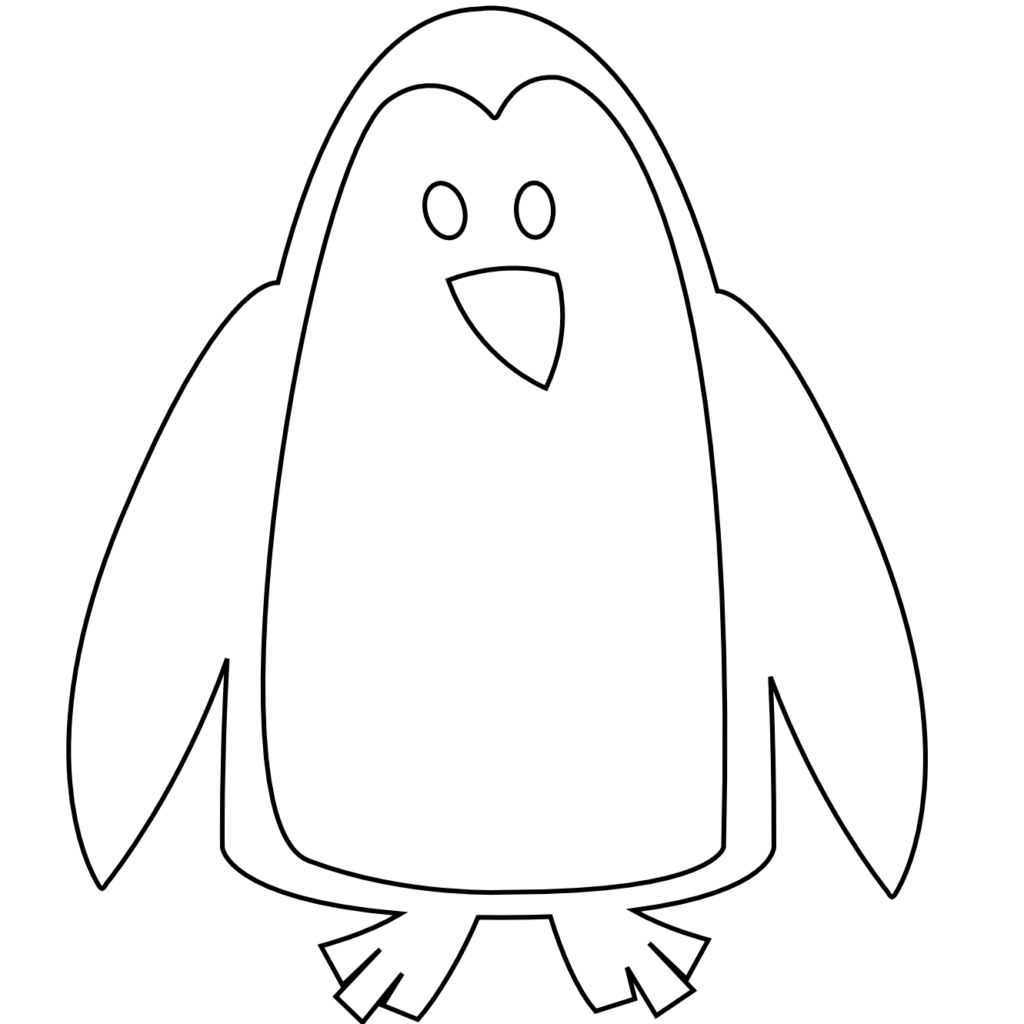 Baby penguin c d. Dory clipart black and white