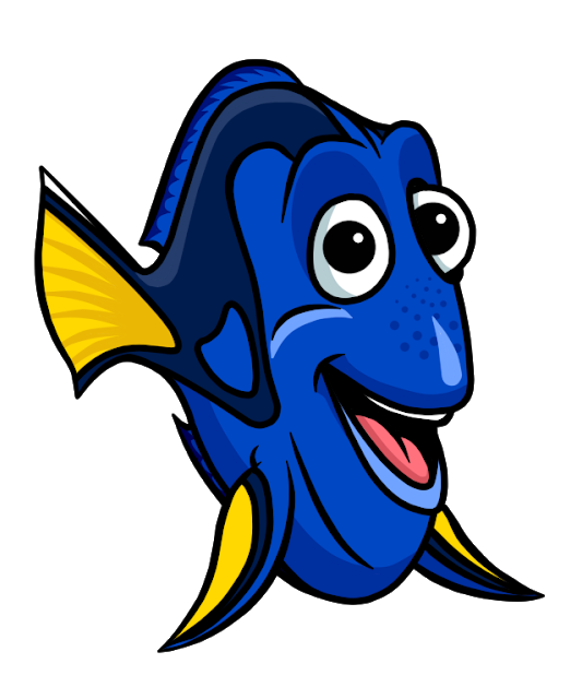 Dory clipart black and white. Finding you might also