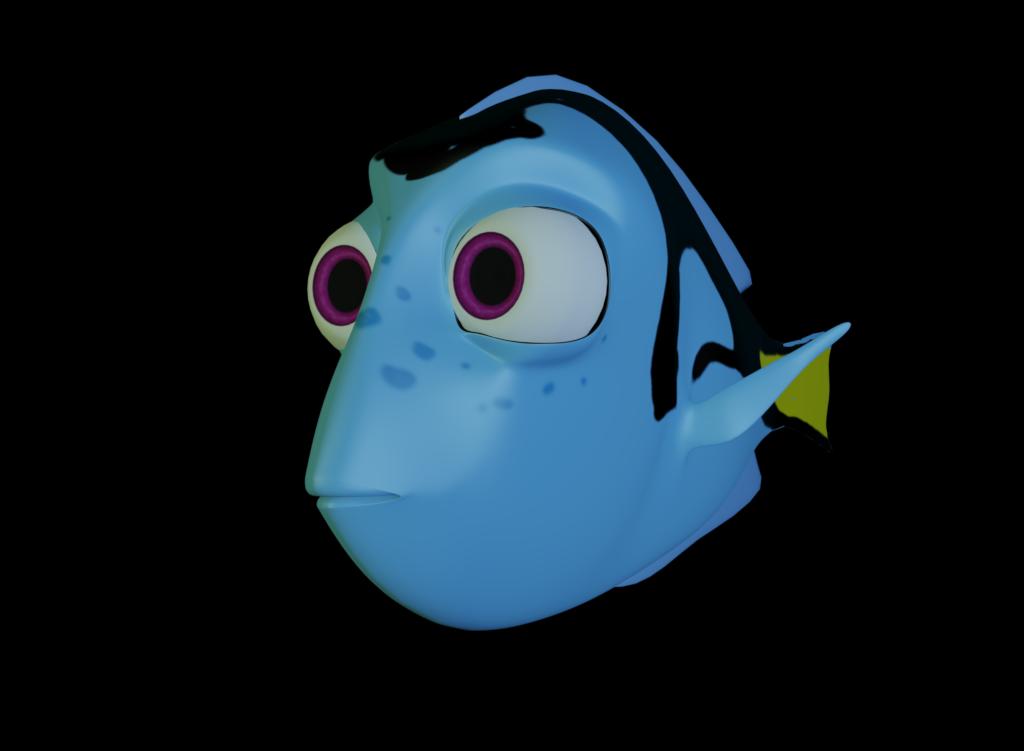 Mmd w i p. Dory clipart blue fish