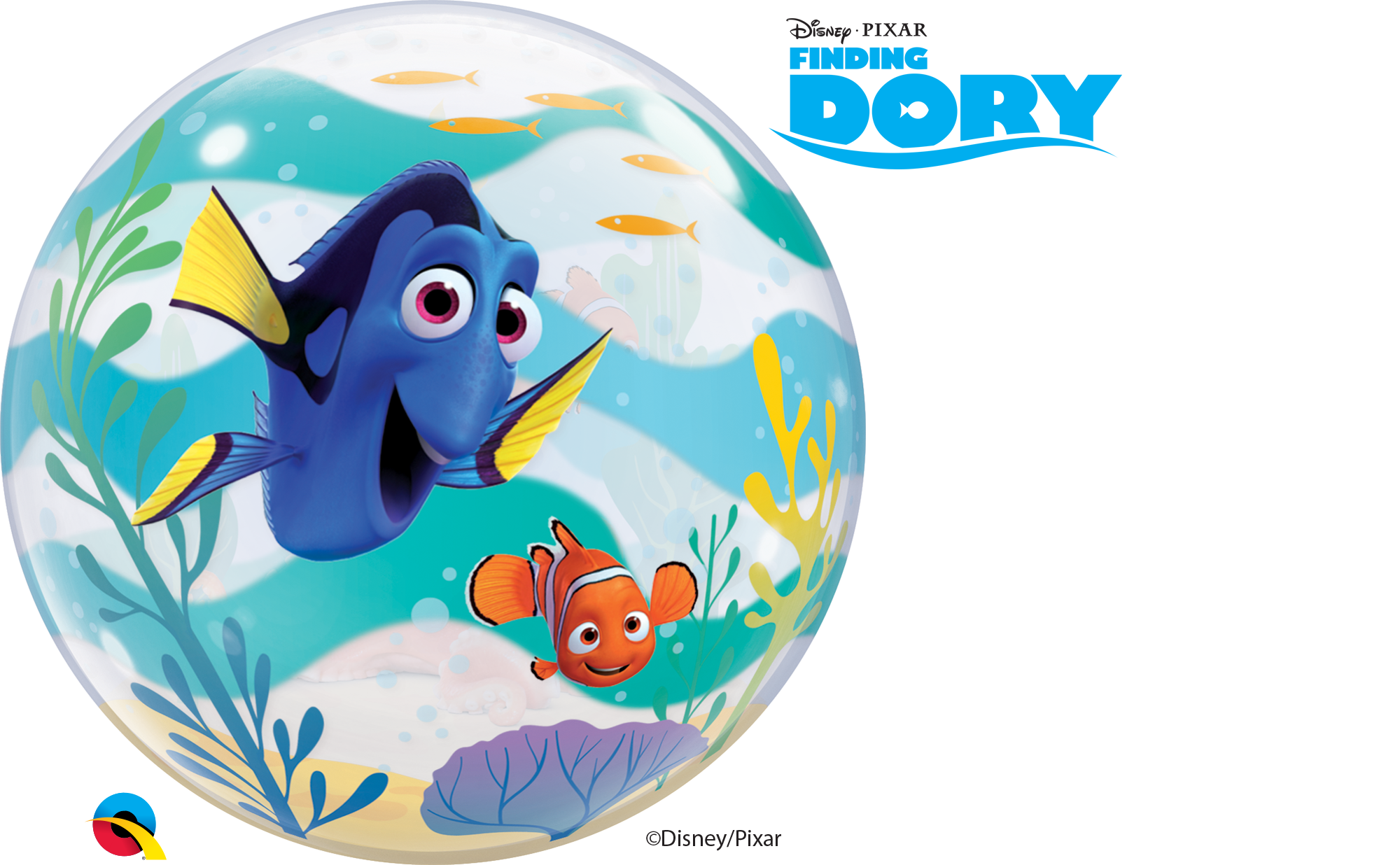 Finding bubble balloon . Dory clipart colour