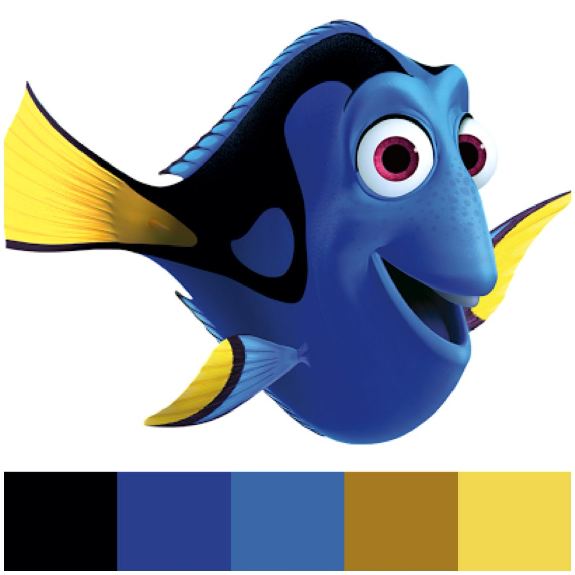 Dory clipart colour. Colours disney characters