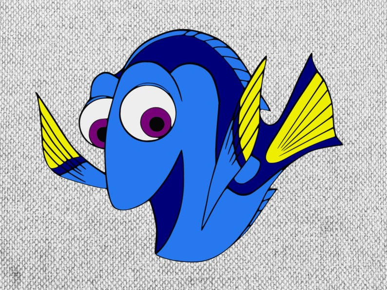 Svg dxf png printable. Dory clipart file