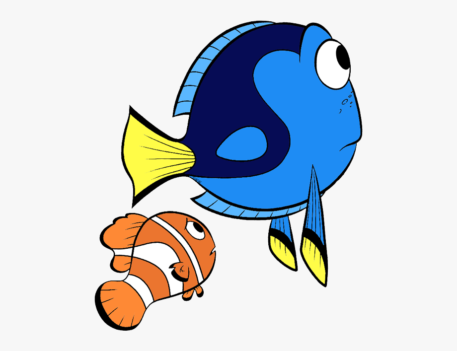 Marlin finding transparent cartoon. Dory clipart file