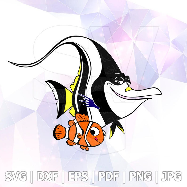 Dory clipart gill. Nemo svg finding layered