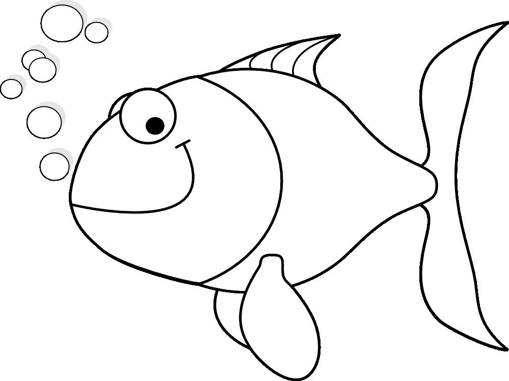 Machovka black white line. Dory clipart happy fish
