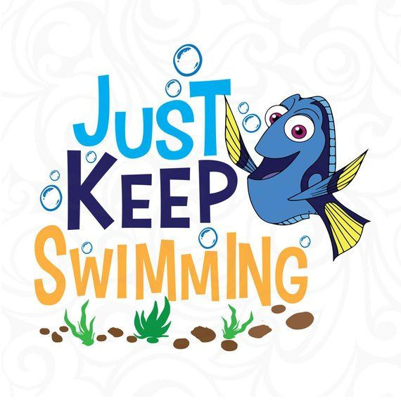 Dory clipart just keep swimming. Pin on products