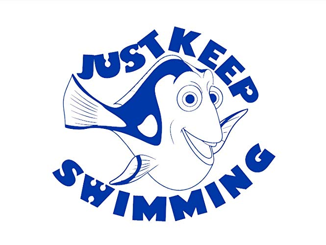Dory clipart just keep swimming. Amazon com nemo finding