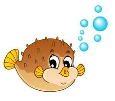 Tubes poissons adorable ocean. Dory clipart puffer fish
