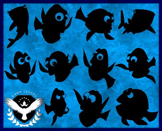 Dory clipart silhouette. Pin on products