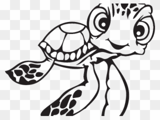 Drawn sea turtle drawing. Dory clipart simple