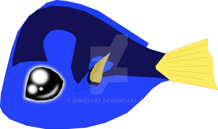 Dory clipart simple. Huggable by izwizzart on