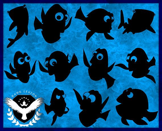 Dory clipart svg.  finding silhouette