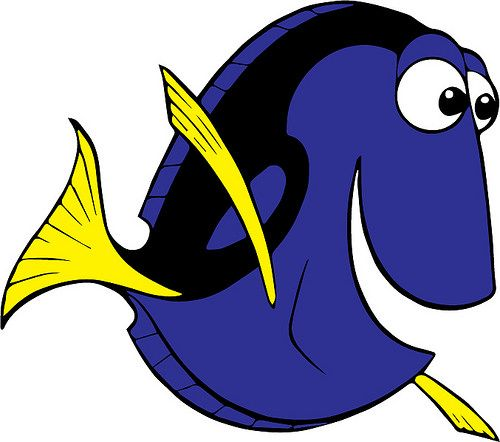 Projects to try drawing. Dory clipart svg