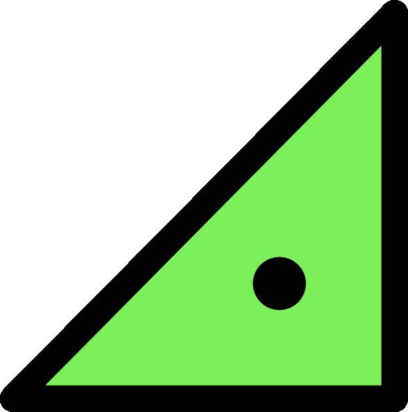 Triangle with dot clip. Triangular clipart geometric shape