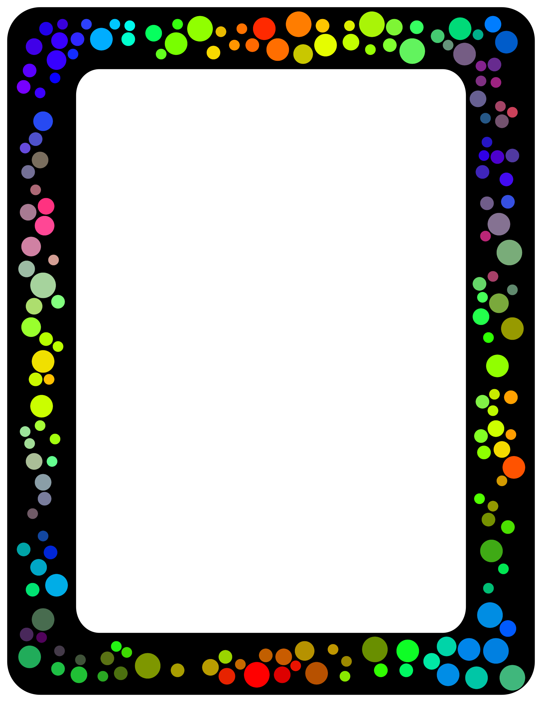 Colorful border png. Clipart dot big image