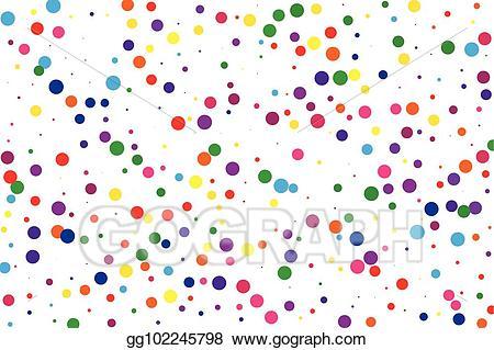 Eps illustration festival pattern. Dot clipart bright colored