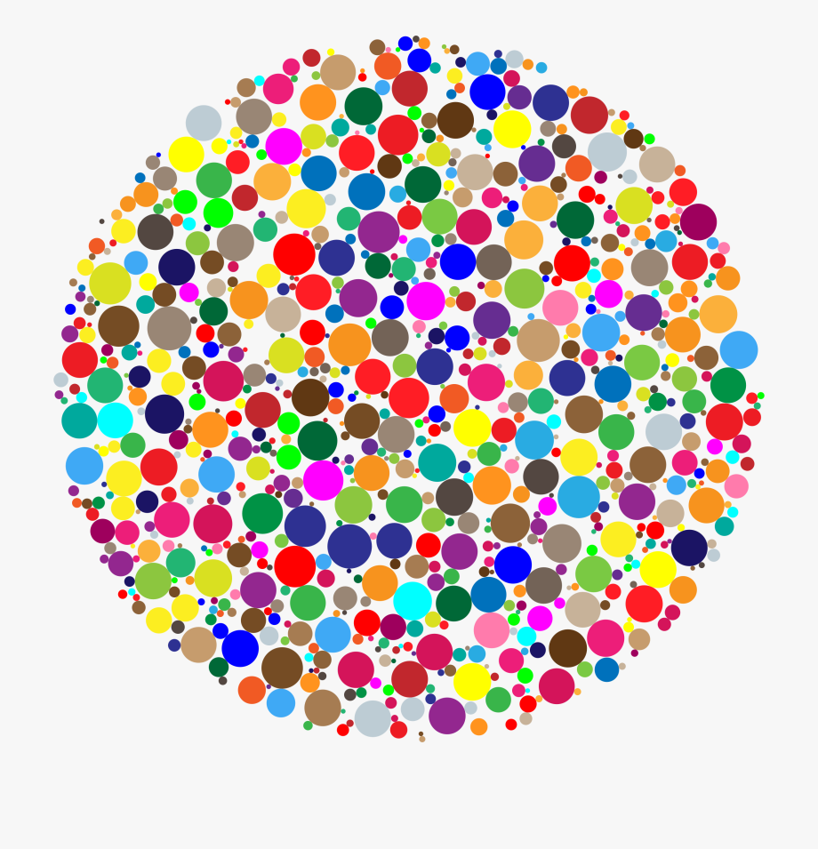 Dot clipart bright colored. Clip royalty free library