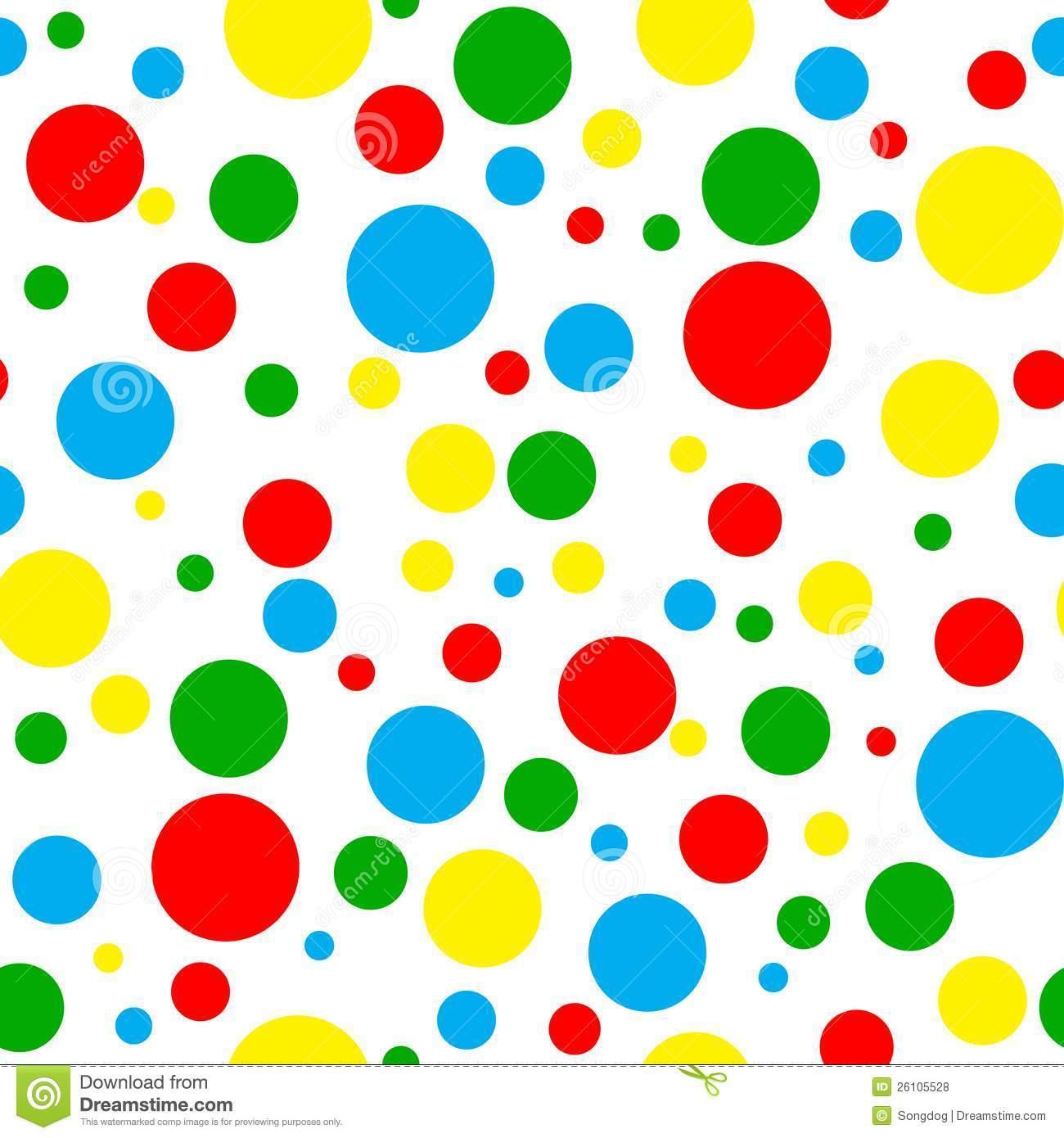Polka clip art color. Dot clipart bright colored
