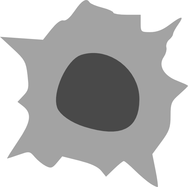 Hole clipart zero. Bullet clip art at
