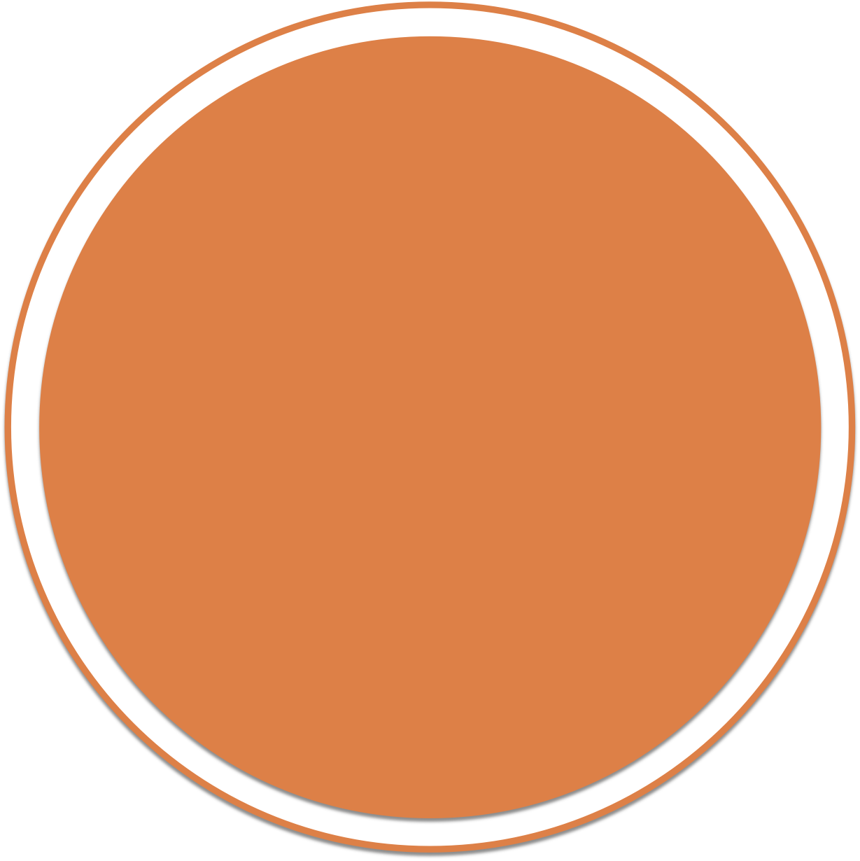 Dot clipart bullet point. Image edi orange circle