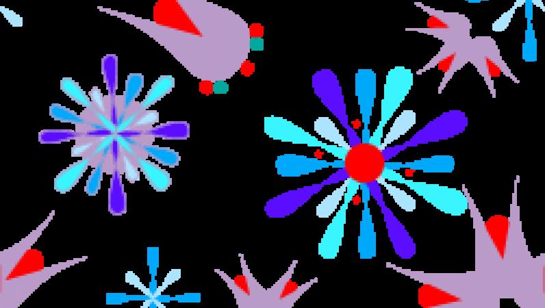 Blue star burst red. Dot clipart bursts