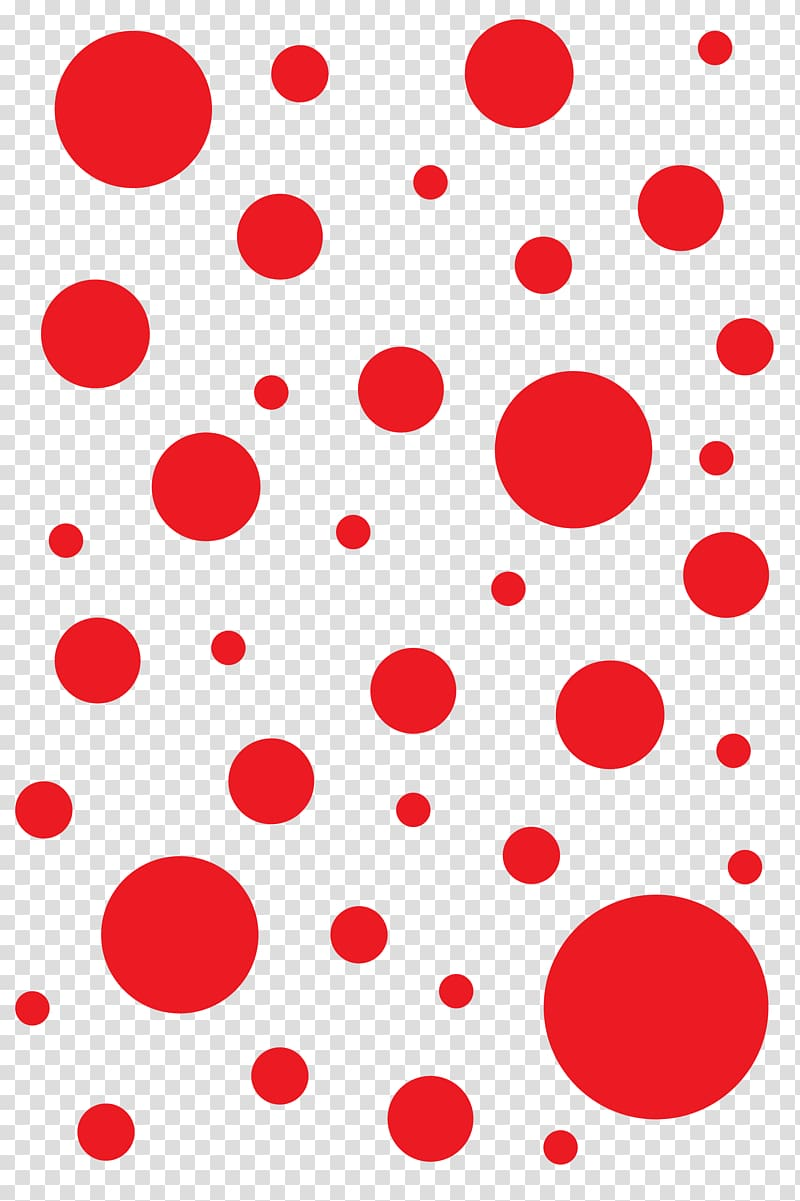 Dot clipart clear background. Red polka dots illustration