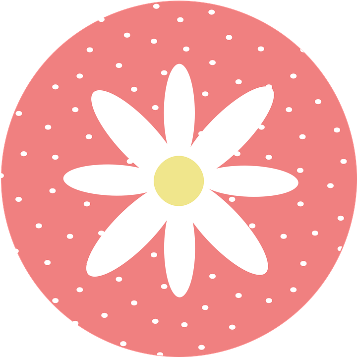 Dot clipart clip art. Flower dots circle