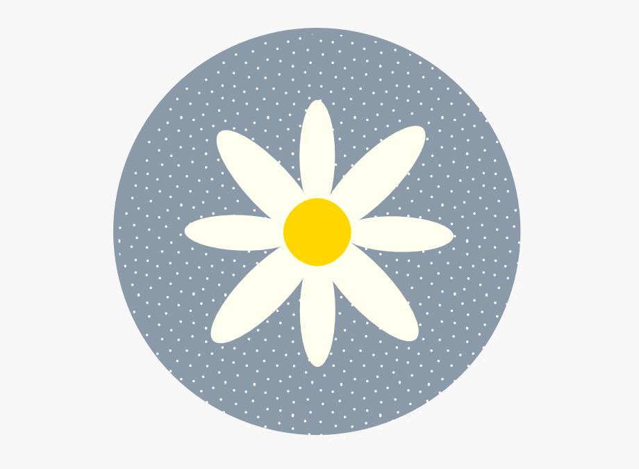 Dot clipart clip art. Daisy polka circle blue