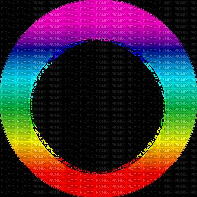 Transparent frame colorful circle. Dot clipart colour full