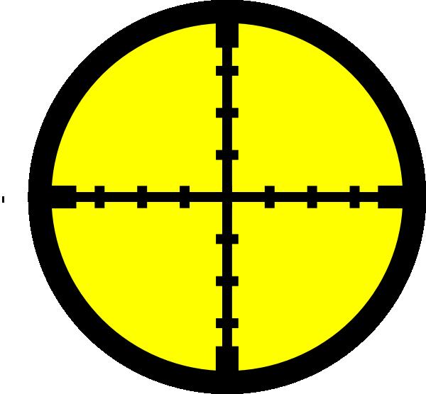 Yellow target clip art. Dot clipart crosshair