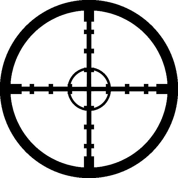 Dot clipart crosshair. Dual circle crosshairs clip
