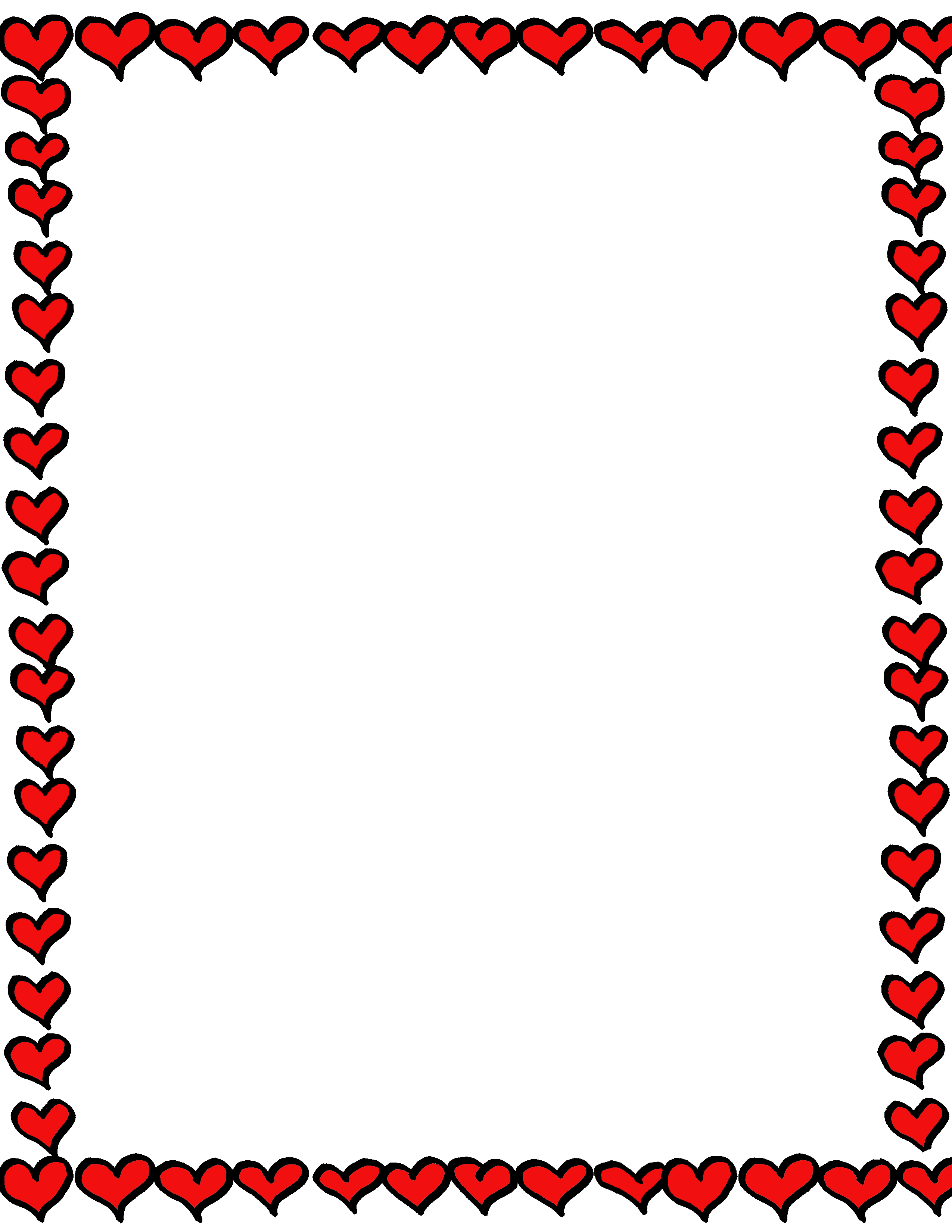 Cute lines acur lunamedia. Heart border png