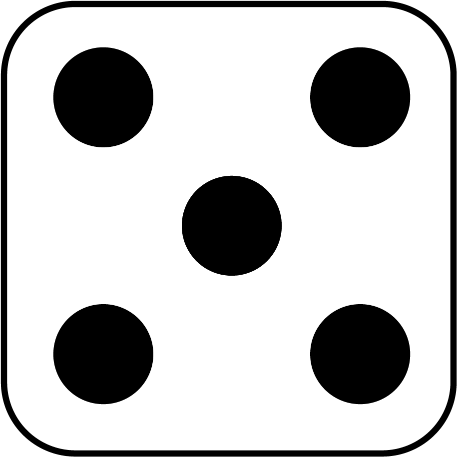 Dot clipart five. Hd dots side of