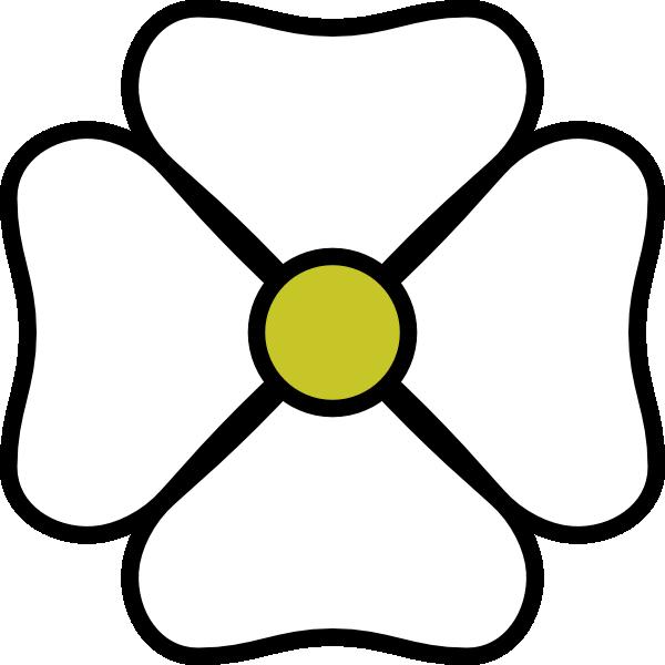 White flower clip art. Dot clipart four