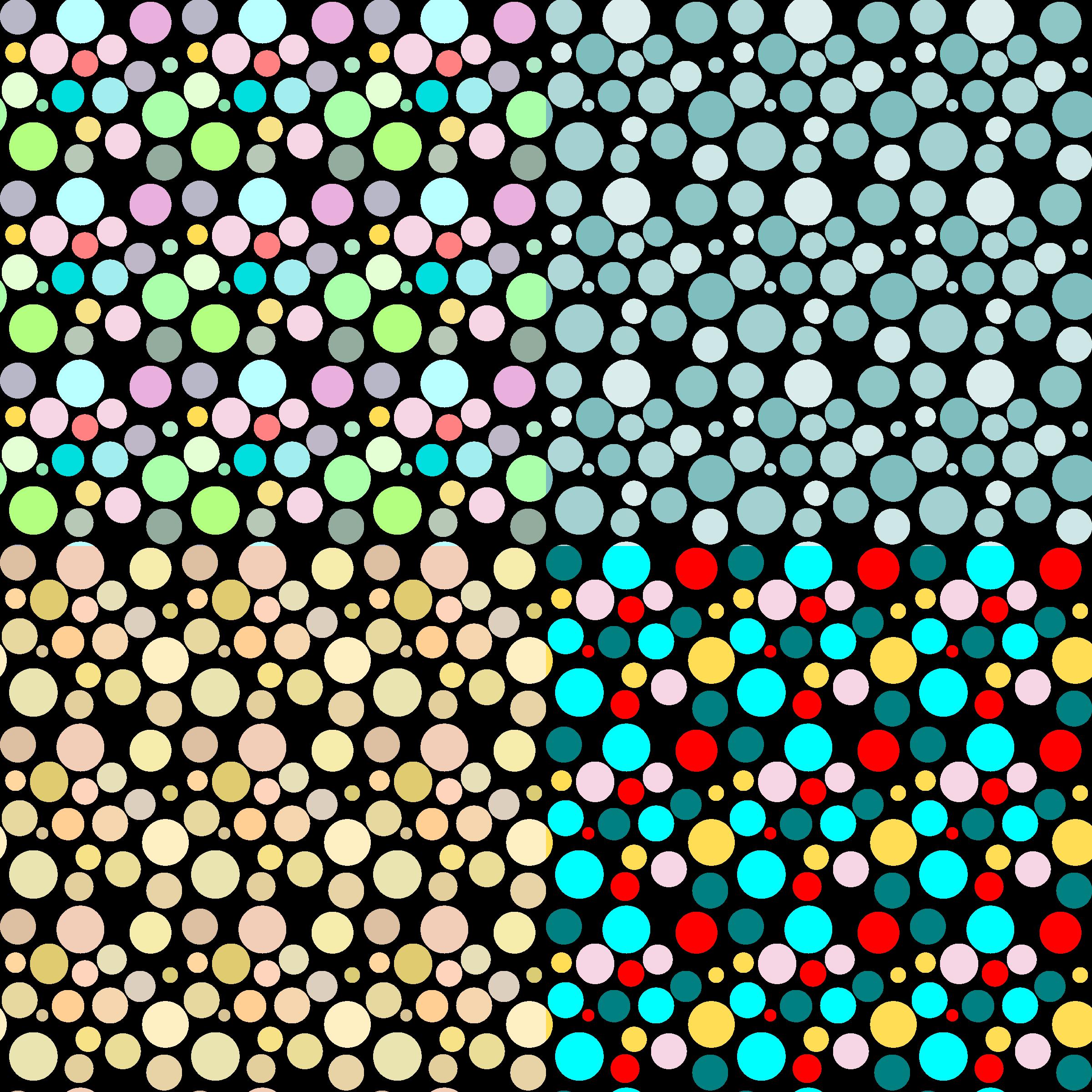 Circle patterns. Dot clipart four