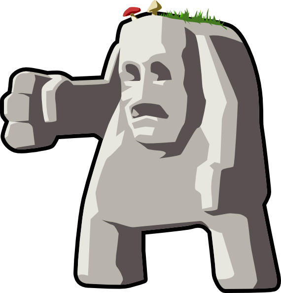 Number 1 clipart giant. Stone clip art at