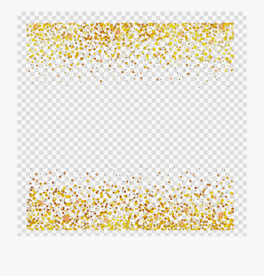 Glitter clipart gold dot. Yellow line confetti transparent