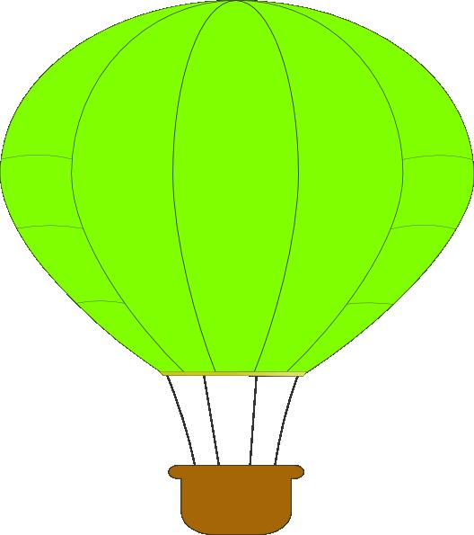 green clipart hot air balloon