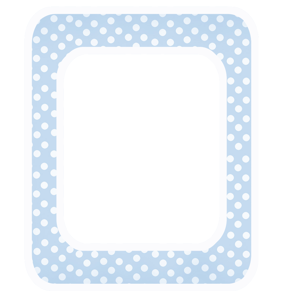 Polka baby announcement clip. Dot clipart light blue