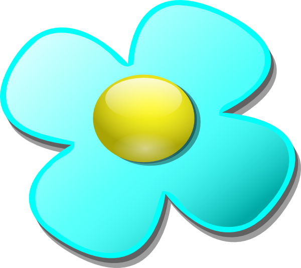 Game marble flower clip. Dot clipart light blue