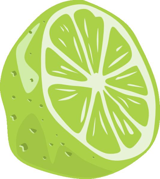 Half clip art at. Dot clipart lime
