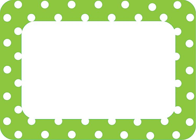 Label clipart polka dot. Lime dots name tags