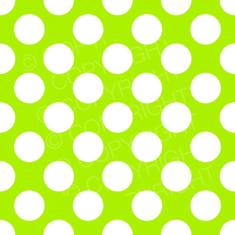 Green polka paper background. Dot clipart lime