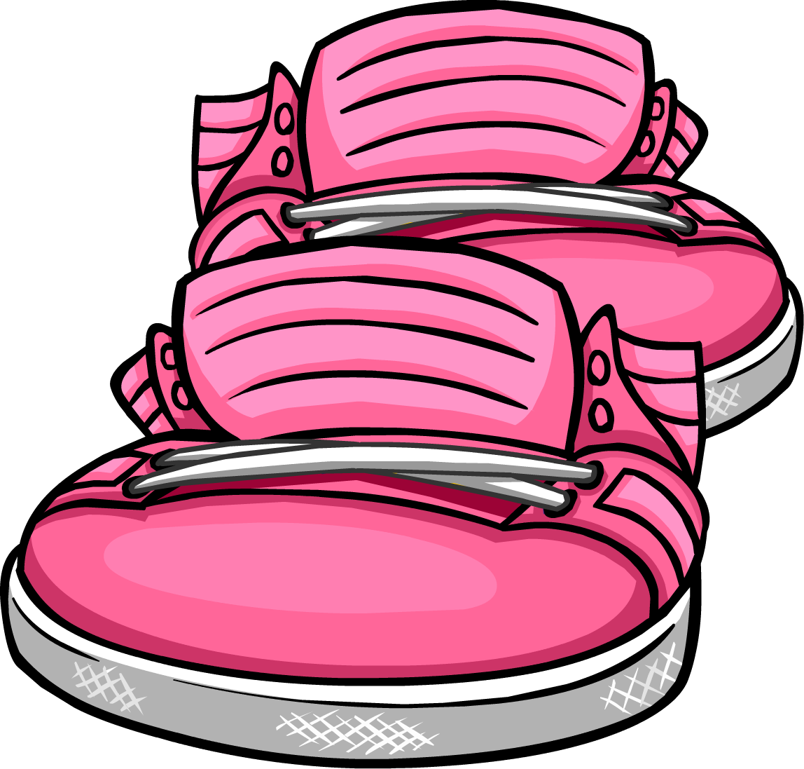 Dot clipart neon. Image pink sneakers icon