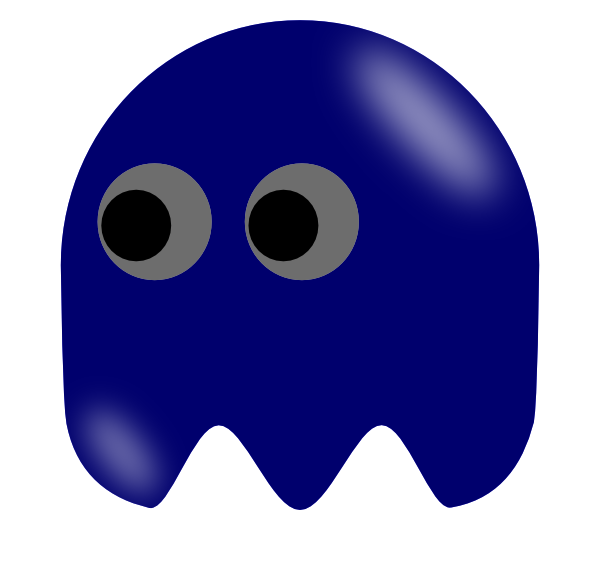 Pacman clipart arcade. Ghost left looking clip